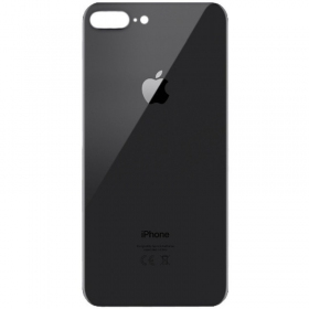 Apple iPhone 8 Plus galinis baterijos dangtelis pilkas (space grey) (bigger hole for camera) (aukšta kokybė)